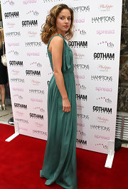 Margarita Levieva looked like a goddess in a flowing green dress at the screening of 'Spread.'