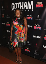 Star Jones donned a pleated Oriental-print dress for Misty Copeland's Broadway debut celebration.