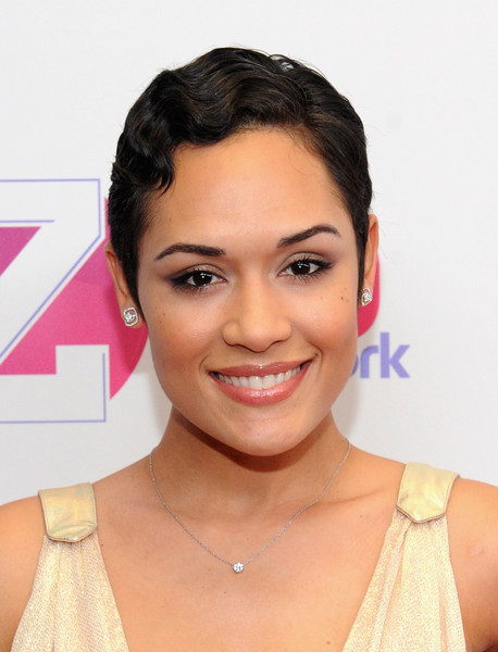 Grace Gealey Finger Wave [hair,face,eyebrow,hairstyle,forehead,skin,lip,chin,beauty,cheek,grace gealey,new york city,madison square garden,z100,jingle ball 2015 - backstage]