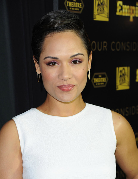 Grace Gealey Short Side Part [hair,face,eyebrow,hairstyle,chin,beauty,lip,forehead,shoulder,cheek,grace gealey,the theatre,california,los angeles,the ace hotel,fox,empire atas academy,red carpet,empire atas academy event]
