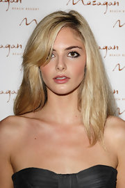 Tamsin Egerton wore her blonde locks with her bangs side-swept at the grand opening of Kerzner Mazagan Beach Resort.