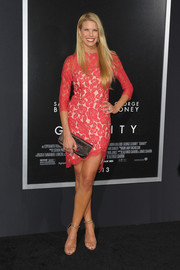 An asymmetrical hem put a sexy spin on Beth Stern's ladylike lace dress at the premiere of 'Gravity.'