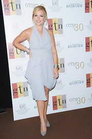 Leigh Anne Tuohy donned a draped chiffon halter dress at GTN's 30th anniversary party.