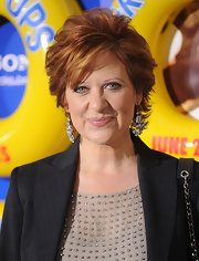 Caroline Manzo looked super polished with her high-volume short wavy 'do at the 'Grown Ups' premiere.