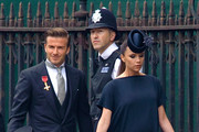 David Beckham and Victoria Beckham arrive at Westminster Abbey on April 29, 2011 in London, England.The marriage of Prince William, the second in line to the British throne, to Catherine Middleton is being held in London today. The Archbishop of Canterbury conducted the service which was attended by 1900 guests, including foreign Royal family members and heads of state. Thousands of well-wishers from around the world have also flocked to London to witness the spectacle and pageantry of the Royal Wedding and street parties are being held throughout the UK.