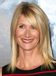 Laura Dern wore pin-straight tresses with side-swept bangs to the premiere of 'Everest.'