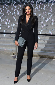 Rachel Roy looked sleek and cool in a structured black suit.