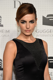Camilla Belle graced the Guggenheim International Gala dinner wearing gorgeous diamond hoop earrings by Chopard.