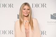 Gwyneth Paltrow wore her hair in a stylish layered cut at the Guggenheim International Gala Dinner.