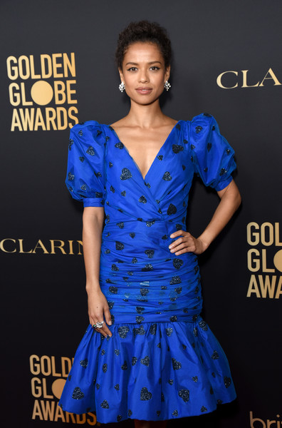 Gugu Mbatha-Raw Cocktail Ring [clothing,fashion model,cobalt blue,blue,dress,cocktail dress,electric blue,fashion,day dress,hairstyle,gugu mbatha-raw,west hollywood,california,hollywood foreign press association and the hollywood reporter celebration,the golden globe ambassadors,golden globe awards season,the hollywood reporter celebration]