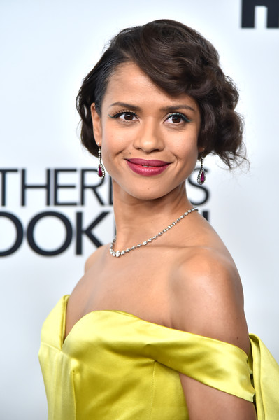 Gugu Mbatha-Raw Curled Out Bob [motherless brooklyn,hair,hairstyle,eyebrow,beauty,yellow,lip,skin,fashion model,chin,shoulder,arrivals,gugu mbatha-raw,new york city,new york film festival]