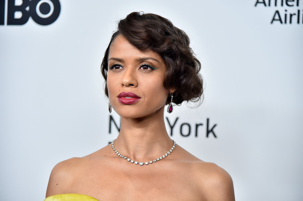 Gugu Mbatha-Raw Diamond Tennis Necklace [motherless brooklyn,hair,face,lip,skin,hairstyle,beauty,eyebrow,chin,cheek,nose,arrivals,gugu mbatha-raw,new york city,new york film festival]