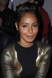 Jada Pinkett Smith sported a cool fauxhawk during the Guy Laroche fashion show.