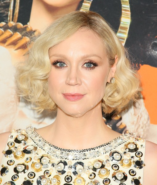 Gwendoline Christie Curled Out Bob [welcome to marwen,hair,hairstyle,blond,eyebrow,beauty,eyelash,chin,lip,long hair,eye,arrivals,gwendoline christie,arclight hollywood,california,universal pictures,dreamworks pictures premiere of ``welcome to marwen,premiere]
