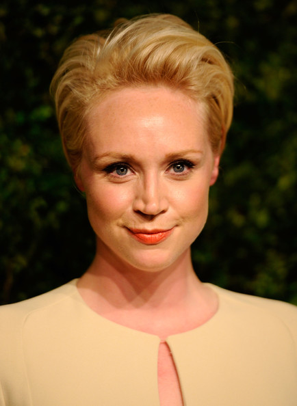 Gwendoline Christie Messy Cut [hair,face,blond,hairstyle,lip,eyebrow,chin,beauty,forehead,head,gwendoline christie,inside arrivals,vogue fashion fund awards,new york city,548 west 22nd street,ninth annual cfda,the ninth annual cfda]