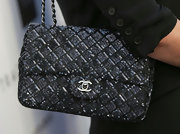Kathy Hilton chose this updated Chanel bag, which featured a chain strap and sequin quilting.