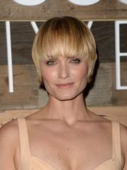 Amber Valletta rocked a helmet-inspired 'do at the H&M Conscious Collection dinner.
