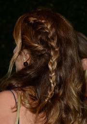 Alexia Niedzielski sported a messy, partially braided hairstyle at the H&M Conscious Collection dinner.
