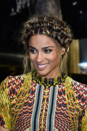 Ciara attended the H&M fashion show wearing her hair in an elaborate crown braid.