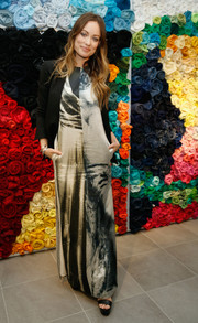 Olivia Wilde attended an H&M Conscious Exclusive event wearing a stylish printed maxi dress from the brand.