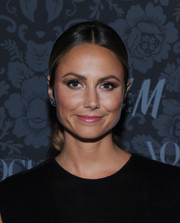Stacy Keibler looked classic and lovely with her center-parted ponytail at the H&M and Vogue Studios Between the Shows party.