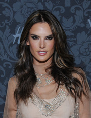 Alessandra Ambrosio looked gorgeous, as always, with her long wavy hairstyle at the H&M and Vogue Studios Between the Shows party.