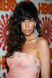 Paz de la Huerta wore her long curls loose with bangs at the HBO Emmy Awards after-party.