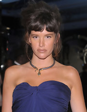 Paz de la Huerta downplayed her pout with nude lipstick at the 'Boardwalk Empire' after-party.