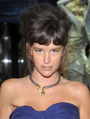 Paz de la Huerta finished off her 'Boardwalk Empire' after-party ensemble with a chic snake choker.