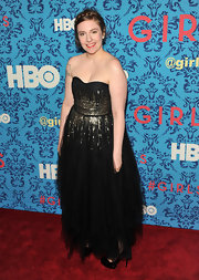 Lena Dunham donned this frothy tulle dress at the premiere of 'Girls' in NYC.