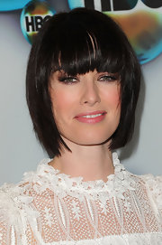 Lena Headey attended HBO's Golden Globe Awards after-party wearing her hair in a chic pageboy.