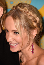 Joanne Froggatt looked oh-so-cute with her milkmaid braid at the HBO Golden Globes party.