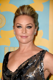 Elisabeth Rohm teased her hair into a chic pompadour for the HBO Golden Globes party.