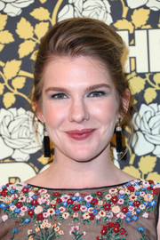 Lily Rabe teased her hair into an elegant pompadour for the HBO Golden Globe post-party.