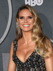 Heidi Klum wore her hair down in a glamorous wavy style at the HBO post-Emmy reception.
