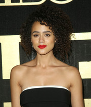 Nathalie Emmanuel looked hip with her afro at the HBO post-Emmy reception.