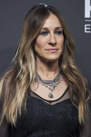 Sarah Jessica Parker was hippie-glam with her flowing center-parted hairstyle at the HBO Spain presentation party.