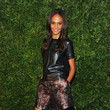 Joan Smalls Leather Blouse