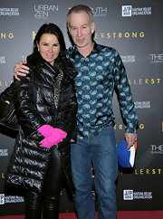 Patty Smyth cozied up in a black down coat at the 'Help Haiti' benefit.