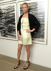 Carolyn Murphy chose a contemporary mini dress for her look while out in NYC.