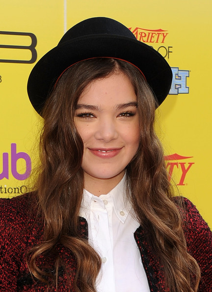 Hailee Steinfeld Porkpie Hat [hair,face,lip,clothing,hairstyle,hat,beauty,eyebrow,long hair,fashion accessory,hailee steinfeld,arrivals,the hub,california,hollywood,variety,5th annual power of youth event,power of youth,paramount studios,event]