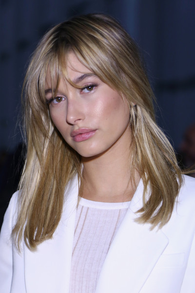 Hailey Bieber Medium Straight Cut with Bangs