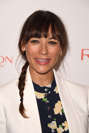 Rashida Jones channeled her inner little girl with this braid and blunt bangs at the Women Cancer Research celebration.