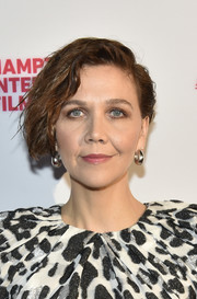 Maggie Gyllenhaal looked like a rockstar with her messy 'do at the Hamptons International Film Festival.