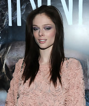 At an NYC screening of 'Hanna,' Coco Rocha wore a smoky eye created from a palette of plum, violet and lavender shadows.