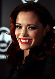 Jessica Sutta donned her fiery red curls at the Hard Rock Cafe Sydney opening party.