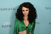 Stacey Bendet attended the Harper's Bazaar 150th anniversary party rocking big hair!