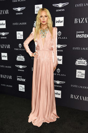 Rachel Zoe looked downright elegant in a fresh-off-the-runway blush silk gown at the 2018 Harper's Bazaar Icons event.