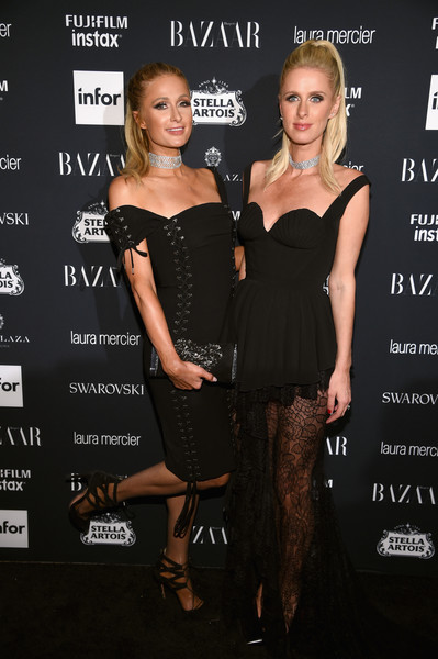 Paris and Nicky Hilton at Harper's BAZAAR'ICONS By Carine Roitfeld'