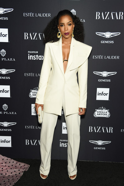 More Pics of Kelly Rowland Pantsuit (1 of 3) - Suits Lookbook - StyleBistro [suit,clothing,pantsuit,formal wear,tuxedo,fashion,outerwear,blazer,carpet,style,carine roitfeld,estee lauder,stella artois - arrivals,icons,plaza hotel,harpers bazaar celebrates,saks fifth avenue,fujifilm instax,genesis,infor]